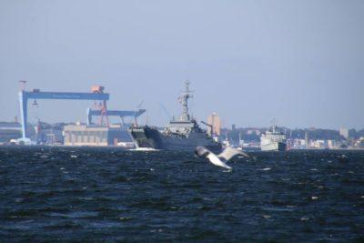 Warships in Kiel Fjord