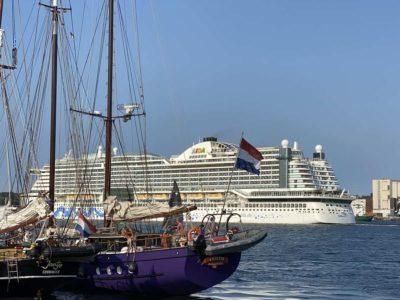 AIDAprima cruise ship Kiel Fjord