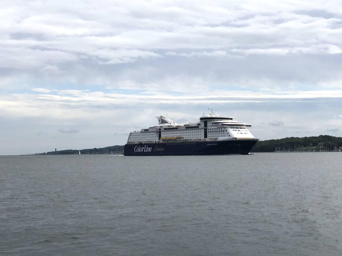Color Fantasy ship of the Color Line in the Kiel Fjord