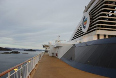 Upper deck Color Line in the Oslofjord