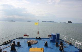 Fähre im Golf von Thailand - Surat Thani - Koh Samui Autofähre