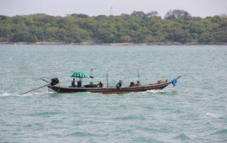 Fischerboot Donsak Pier Thailand