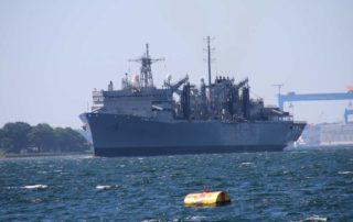 Flottenversorger USNS Supply in Kiel