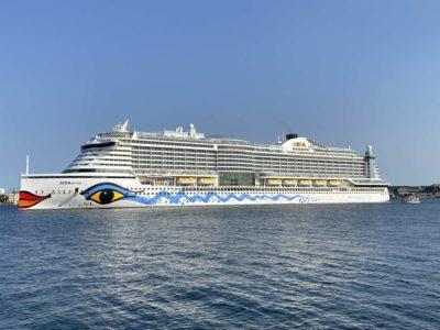 Kiel Fjord AIDAprima cruise ship