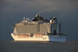 MSC Seaview in der Ostsee