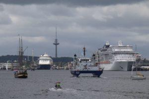 Schiffe in der Kieler Förde während der Kieler Woche 2018