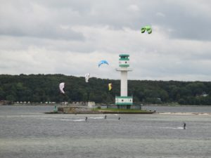 Kite Surfing Kiel - Leuchtturm Friedrichsort Kieler Förde