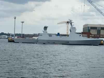Corvette Israel Sa'ar-6 class in Kiel shipyard TKMS