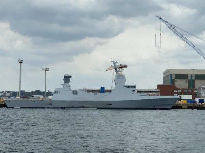Israeli warship stealth corvette in Kiel