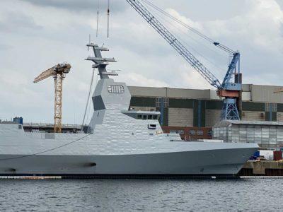 Corvette Israeli Navy with stealth technology