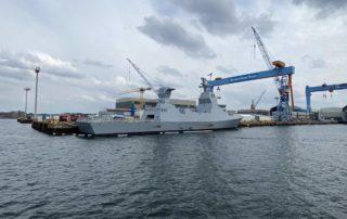 Korvette Israel mit Tarnkappentechnik in Kiel