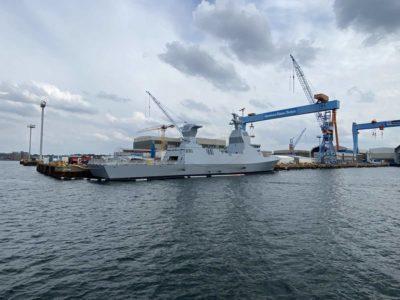 Corvette Israel with stealth technology in Kiel