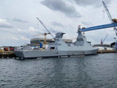 Israeli corvette in Kiel Sa'ar 6 class