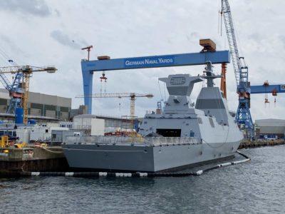 Corvette Israel warship in Kiel