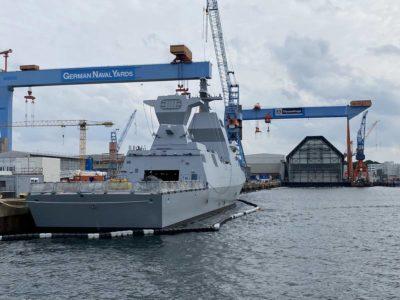 Warship Corvette Israel in Kiel