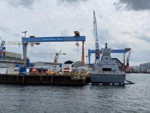 Israelische Korvette in Kieler Werft