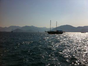 Segelschiff in der Bucht von Marmaris