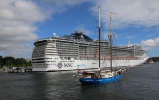 MSC Preziosa in Kiel im Juni 2018