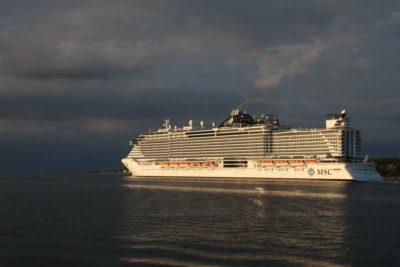 MSC Seaview Schiff in Kiel