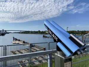 Nord-Ostsee-Kanal Aussichtsplattform Kiel-Wik