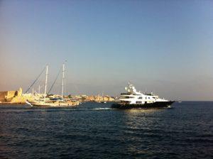 Rhodos Hafen Motoryach & Segelschiff