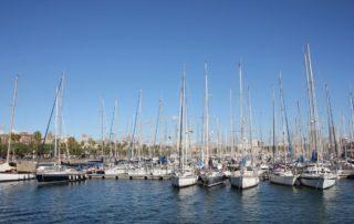 Royal Barcelona Maritime Club - Segelboote im Hafen