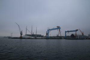 Sailing Yacht A in Kiel - SYA Segelyacht in der Werft German Naval Yards