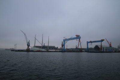 Sailing Yacht A in Kiel - SYA sailing yacht in the German Naval Yards shipyard