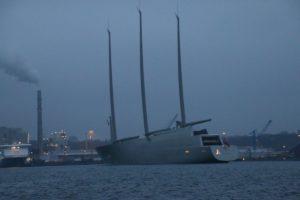SYA Segelyacht A verlässt Kiel im Februar 2017