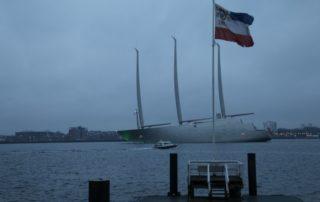 Sailing Yacht A verlässt Kiel
