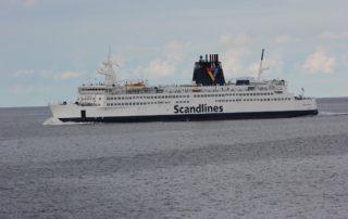 Scandlines Fähre Prins Joachim auf der Ostsee zwischen Rostock und Gedser