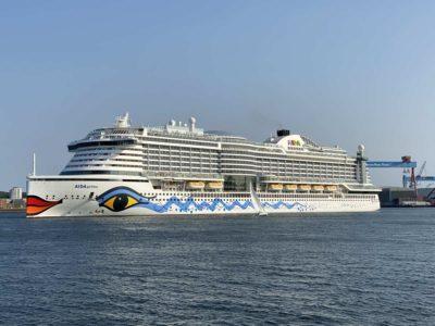 AIDAprima in Kiel Baltic Cruise