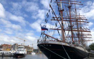 Sedov Segelschiff im Kieler Hafen an der Hörn im Juni 2018