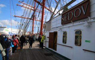 Sedov in Kiel zur Windjammerparade 2018 - Mitsegeln auf dem Schiff