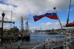 Sedov Segelschiff an der Kieler Hörn Kieler Woche 2018