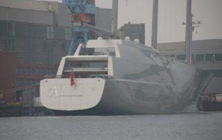 SYA Segelyacht A in Kiel im Februar 2017