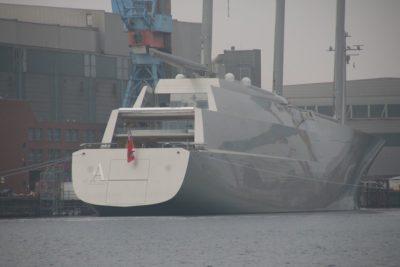 SYA sailing yacht A in Kiel in February 2017