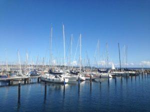 Segelboote im Olympiahafen Schilksee