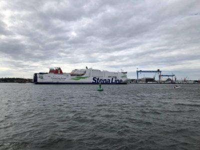 Stena Line Fähre in der Kieler Förde