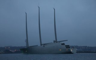 SYA Sailing Yacht A in der Kieler Förde