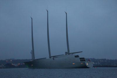 SYA Sailing Yacht A in the Kiel Fjord