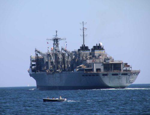 US fleet supplier USNS Supply visits the naval port of Kiel