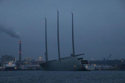 Sailing Yacht A in the Kiel Fjord