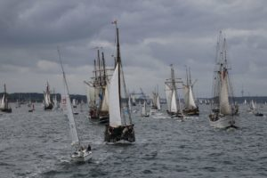 Kieler Woche Windjammerparade 2018 Schiffe auf der Kieler Förde