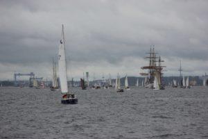 Schiffe in der Kieler Förde Windjammerparade 2013